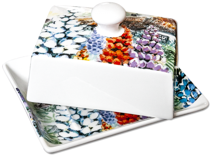Noble Lupin Butter Dish