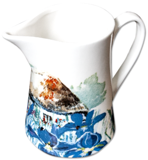 Milk Jug in Summer Iris design