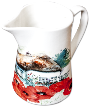 Milk Jug in Oriental Poppy design