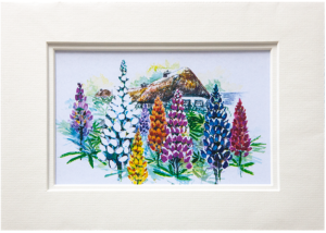Mounted Print in Noble Lupin design