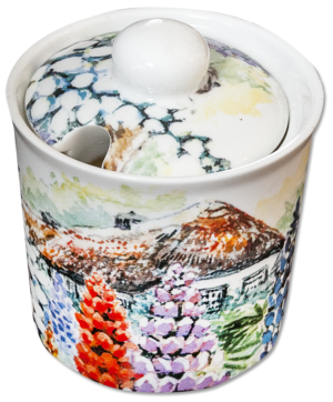 Bone China Sugar Bowl