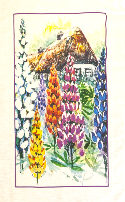 Country Cottages Tea Towel