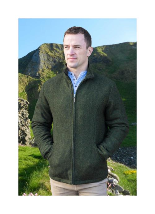 Donegal tweed Olive mens jacket at Lucy Erridge Adare
