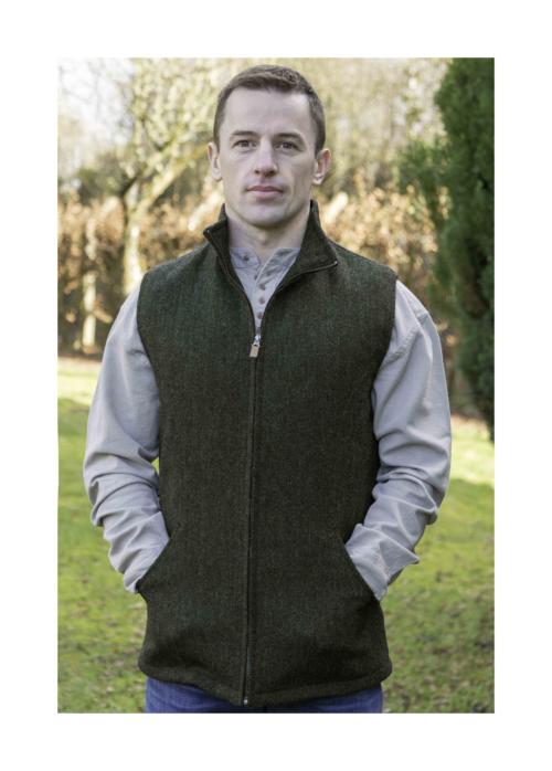 Men's sleeveless jacket or Gilet at Lucy Erridge Adare