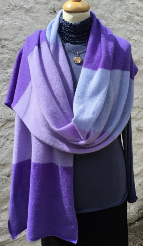Lucy Erridge knitted cashmere travel wrap or scarf
