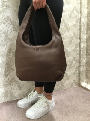 Brown Leather Slouch handbag