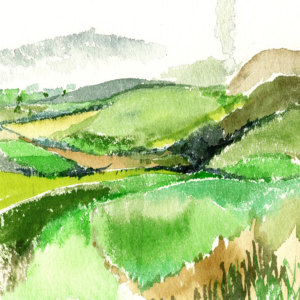 East Clare Fields an original artists painting of Ireland