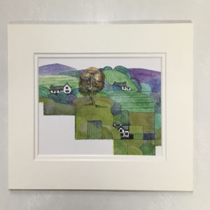 Clare landscape mounted artist print