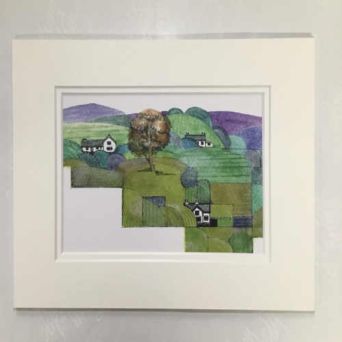 Clare landscape mounted artist print