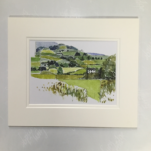 Clare landscape print of watercolour painting
