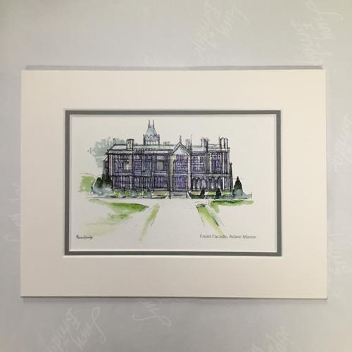Adare Manor Ireland Mounted Print