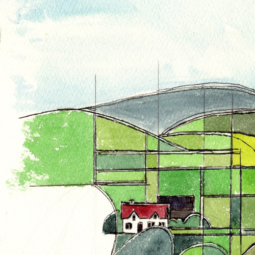 Original Watercolour Painting of Irish Landscape