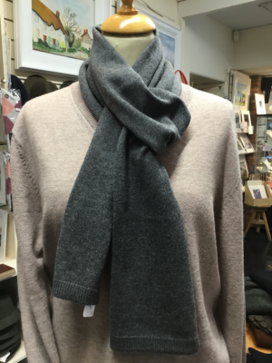 Grey Mens Cashmere Scarf at Lucy Erridge Adare